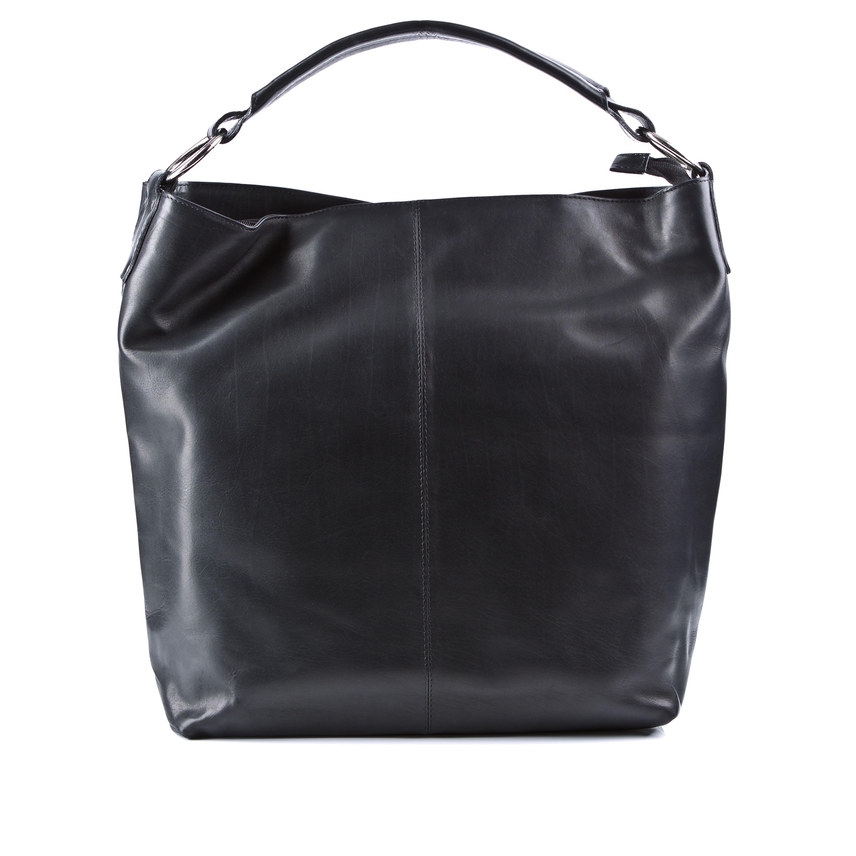 baccini handtasche elisa shopper tote bag schwarz leder henkeltasche neu ebay. Black Bedroom Furniture Sets. Home Design Ideas